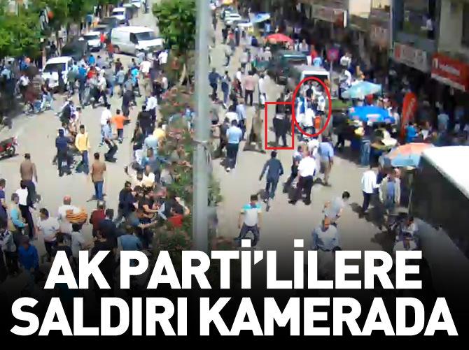 SİİRT'TE AK PARTİ'LİLERE YAPILAN SALDIRI KAMERALARA YANSIDI