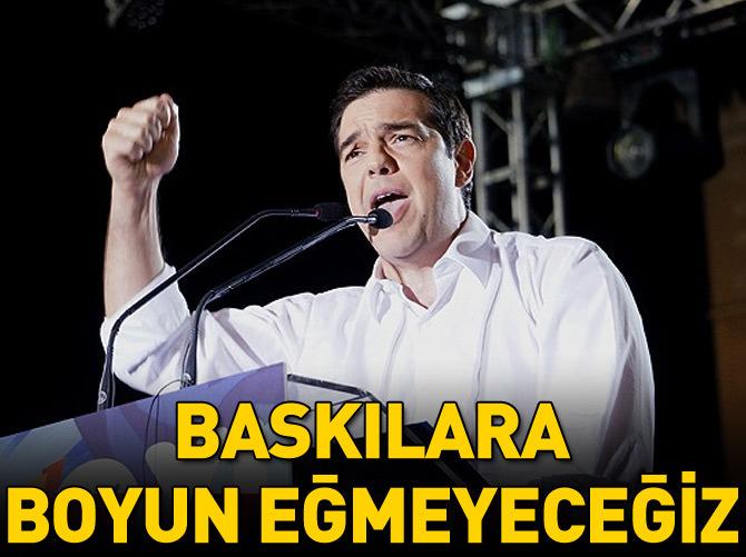 'TEHDİTLERE BOYUN EĞMEYECEĞİZ'