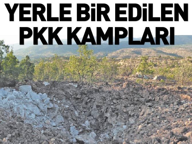 YERLE BİR EDİLEN PKK İNLERİ BÖYLE GÖRÜNTÜLENDİ