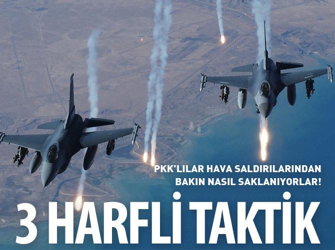 PKK'YI HAVA SALDIRILARINDAN KORUYAN 3 HARF