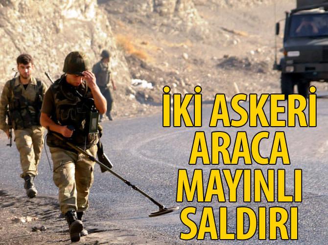 BİTLİS'TE İKİ ASKERİ ARACA MAYINLI SALDIRI