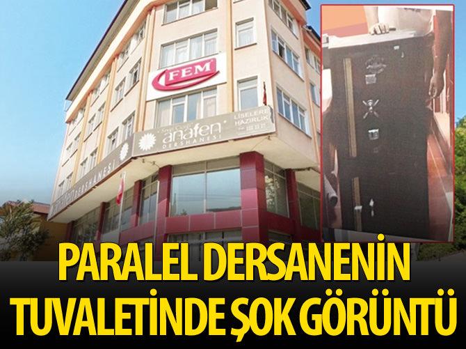 PARALEL DERSANENİN TUVALETİNDE POLİSİ ŞOKE EDEN GÖRÜNTÜ
