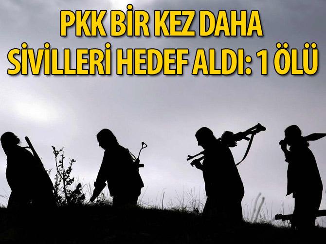 YOL KESEN PKK'LILAR KAÇAN BİR KİŞİYİ ÖLDÜRDÜ
