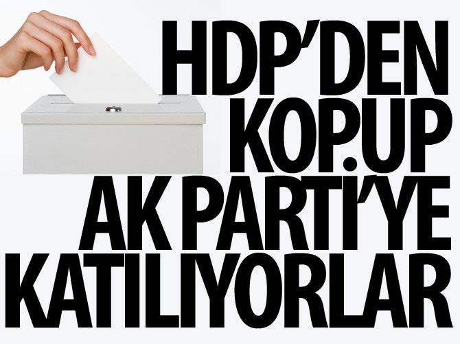 HDP'DEN KOPUP AK PARTİ'YE KATILIYORLAR