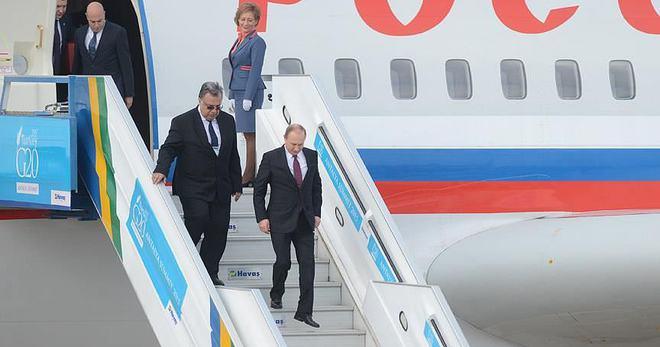 RUSYA DEVLET BAŞKANI PUTİN G20 ZİRVESİ İÇİN ANTALYA'DA