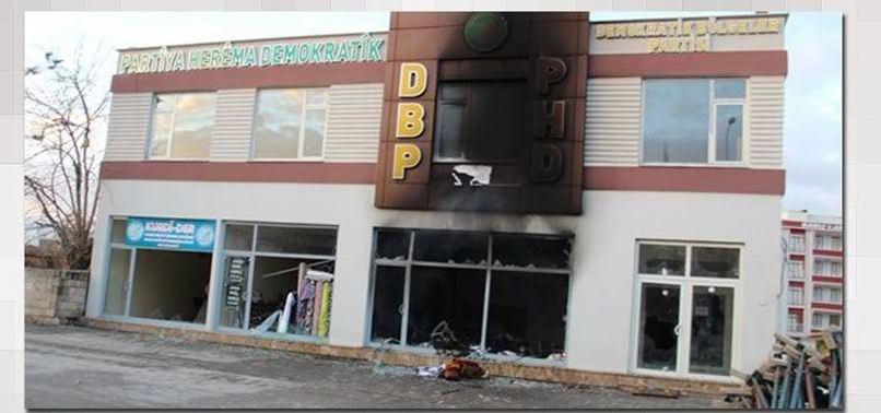 ÇINAR HALKINDAN PKK'YA BÜYÜK ÖFKE: DBP BİNASI ATEŞE VERİLDİ
