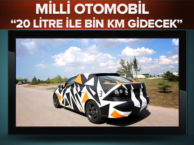 Yerli otomobil, 20 litre ile bin km yol gidecek