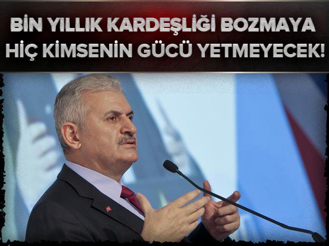 AK Parti Genel Başkan adayı Yıldırım: Bin yıllık kardeşliği bozmaya hiç kimsenin gücü yetmeyecek