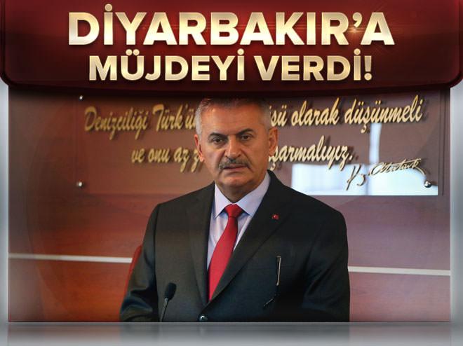Binali Yıldırım Diyarbakır'a müjdeyi verdi!
