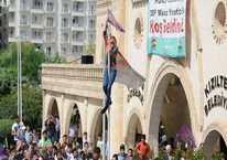 HDP'lilerden 'bayrak' provokasyonu