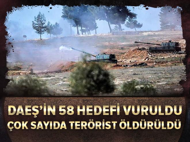DAEŞ'in 58 hedefi vuruldu!