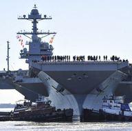 En pahalı uçak gemisi suya indirildi