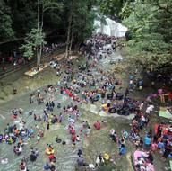 Endonezya'da Ramazan Bayramı'nı böyle kutladılar