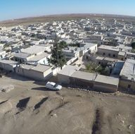 Fırat Kalkanı'nda DEAŞ'tan kurtarılan Dabık havadan görüntülendi
