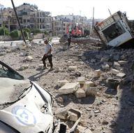 Halep'e 'deprem etkili bomba' atıldı