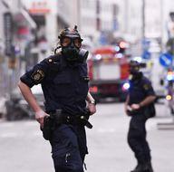 İsveç'in başkenti Stockholm'deki saldırıdan ilk fotoğraflar