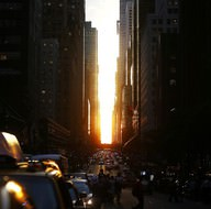 "New York da gün batımı ""Manhattanegde"""