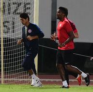 Antalyaspor maçta Eto'o antrenmanda