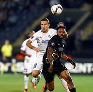 Osmanlıspor - Steaua Bükreş maçından kareler