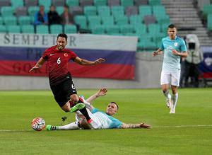 Slovenya - Türkiye maçından kareler