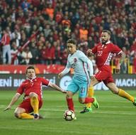 Türkiye - Moldova maçından fotoğraflar