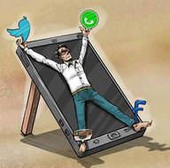 En çarpıcı sosyal medya karikatürleri