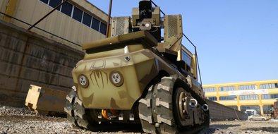 """Mini tank """"ANKEBOT"""" kışla yolu gözlüyor"""