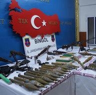 Bingöl'de PKK'nın mühimmat deposu bulundu