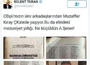 Cumhurbaşkanı Erdoğanın adı mezunlar yıllığında