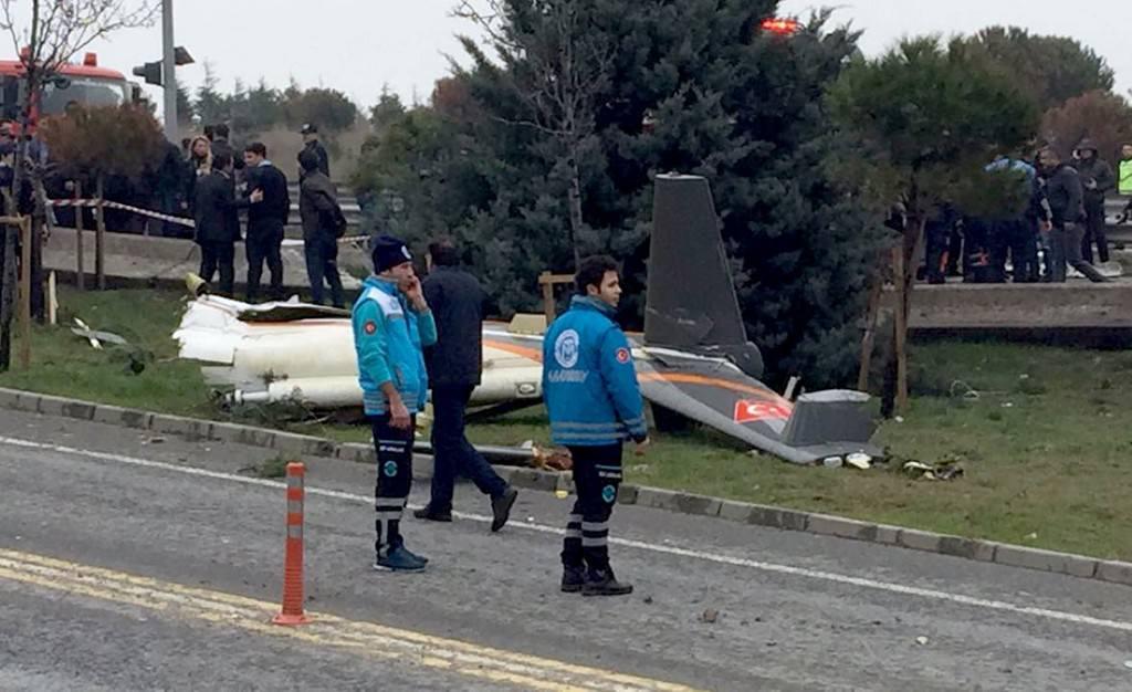 İstanbul'da düşen helikopterden fotoğraflar