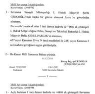 Milli Savunma Bakanlığına atananların listesi