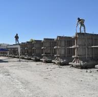 Sınırda beton duvar çalışmaları hızlandı