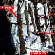 Şırnak'taki operasyonda ele geçirilen malzemeler