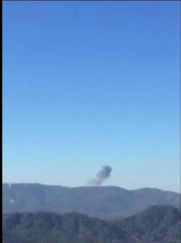 Suriye sınırına uçak böyle düştü