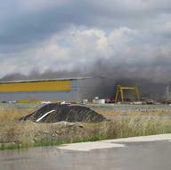 Tuzla Tersaneler Bölgesi'nde patlama meydana geldi