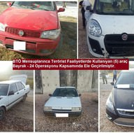 Diyarbakır'da PKK'nın 'bombalı saldırı'da kullanacağı 5 araç ele geçirildi