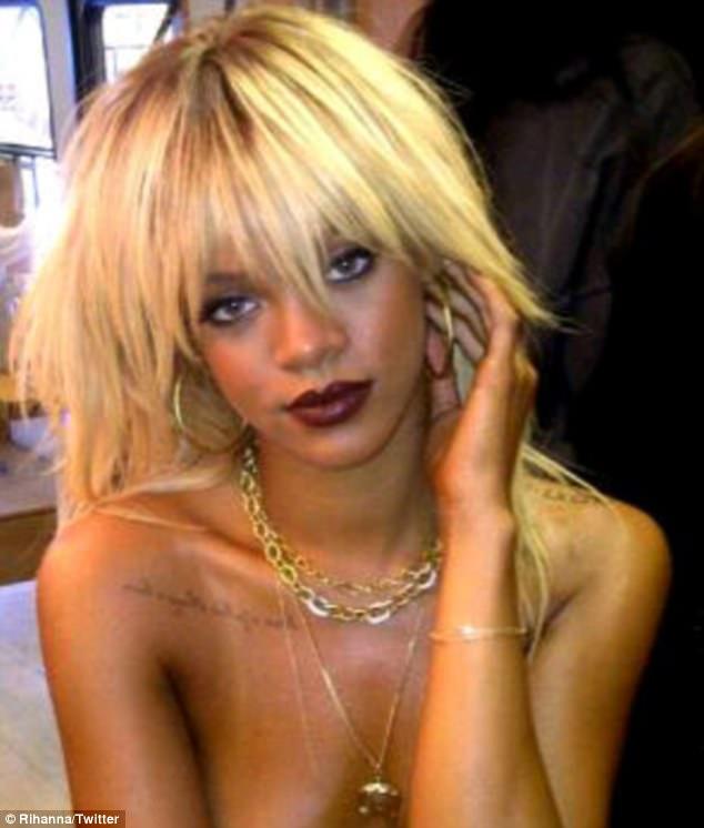 Rihanna blonde hair 2014