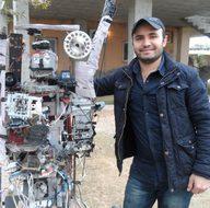 Silopili genç tarla güvenliği için robot yaptı