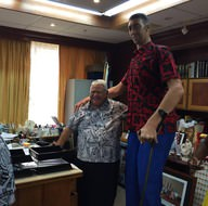 Sultan Kösen, Samoa ülkesine ayak basan ilk Türk olmuş