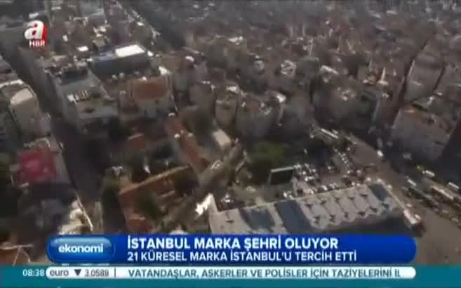 Büyük markaların tercihi İstanbul