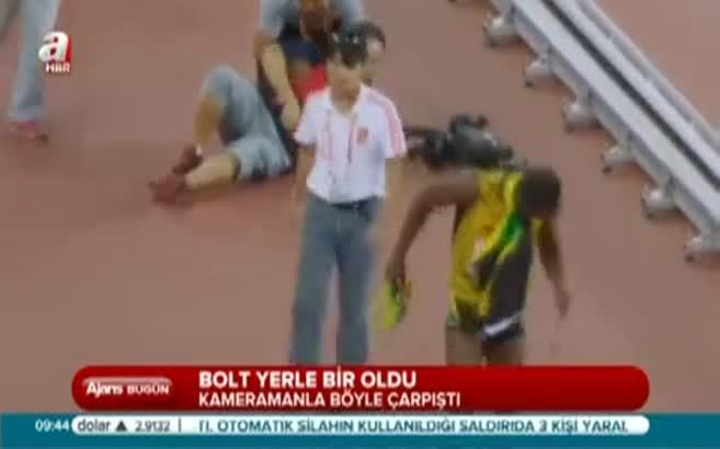 Bolt yerle bir oldu