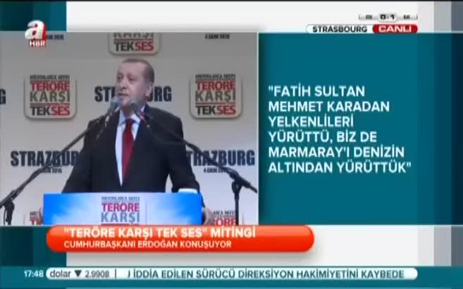 Cumhurbaşkanı Erdoğan dua okudu