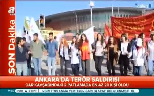 Ankara'daki patlama anı!