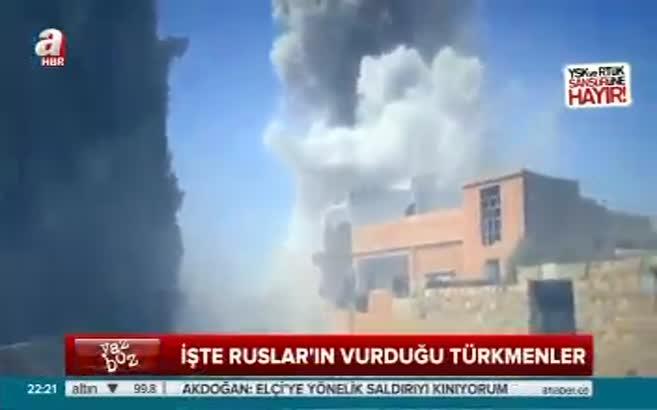 İşte Rusların vurduğu Türkmen köyleri!