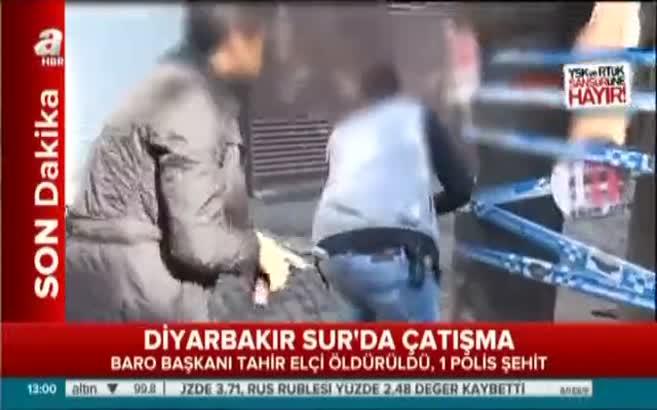 Diyarbakır'da çatışma anı böyle görüntülendi