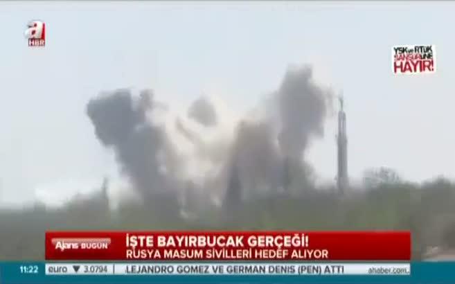 Rusya Türkmenleri bombalıyor