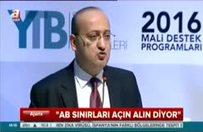 Akdoğan'dan AB'ye sert eleştiri