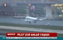 Uçaktakiler büyük tehlike atlattı