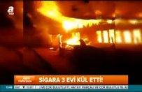 Bolu'da sigara 3 evi kül etti