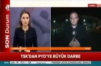 TSK, YPG'yi vuruyor, sınırdan canlı yayın